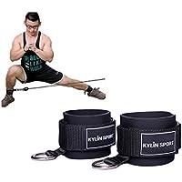 KYLIN SPORT 2 Pcs Sangle de Chevilles Sangle de Poignet Cheville Adapté à Câble Machine Musculation de Jambes Fesse