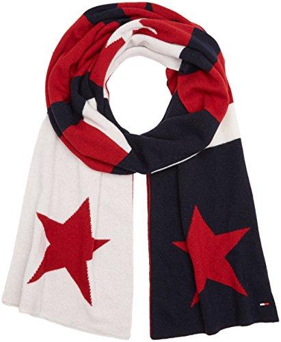 Tommy Hilfiger Double Sided Star Denim Scarf Bufanda, Multicolor Corporate Clrs, Talla única Talla...