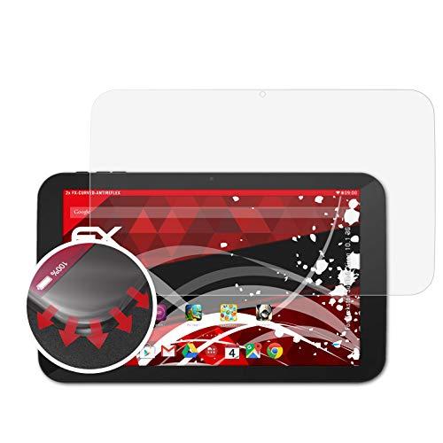 atFolix Schutzfolie passend für Trekstor SurfTab Xiron 10.1 3G Folie, entspiegelnde & Flexible FX Bildschirmschutzfolie (2X)