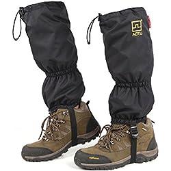 kamalm Unisex pierna polaina impermeable de alta pierna cubierta de zapatos para senderismo escalada caza ciclismo