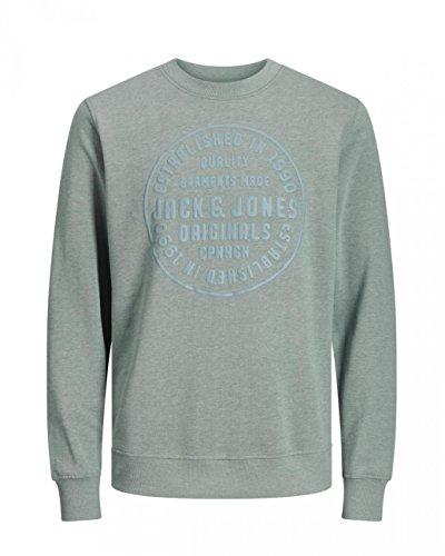 Jack & Jones Herren Sweater JORSTUDIO SWEAT MIX Chinois Green (12128394)