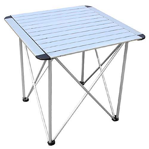 CHENGGUO Table Pliante extérieure argentée et Table en Aluminium pour chaises, Table Pliante Multifonctions en Alliage d'aluminium pour Barbecue portatif
