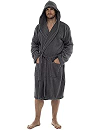 4283b97f7f Artemis Mens and Ladies Unisex Luxury Velour Towelling Dressing Gown  Bathrobe. Grey Yellow Orange Multicoloured.