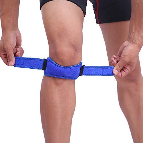 1 stücke Einstellbare Knie Patellar Sehne Unterstützung Knie Unterstützung Klammer für Laufen Basketball Volleyball Sport Kniepolster Gurt Bands @ Blau