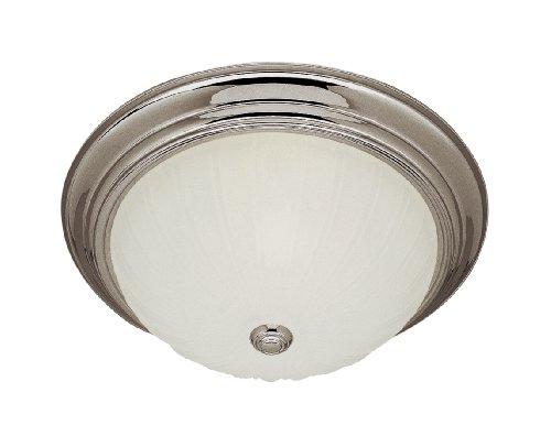 Trans Globe Lighting 13213-1 BN 2-Light Flush-Mount, Brushed Nickel by Trans Globe Lighting -