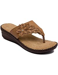 Adjoin Steps Casual Flat Sandals For Women's & Girl's/Daily Wear Fashionable Flat Sandal For Women_as_w100_Beige