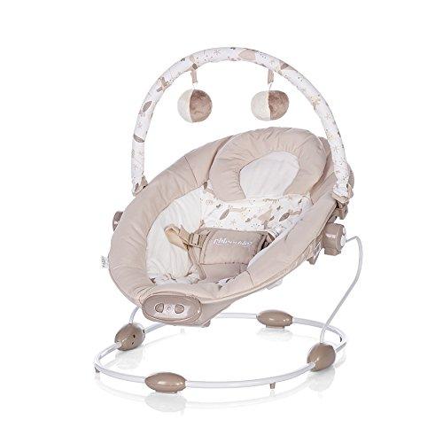 Chipolino Babywippe Siesta, Musikfunktion und Vibration, Lautstärke einstellbar (Beige)