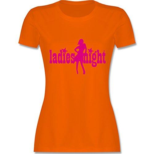 JGA Junggesellinnenabschied - Ladies Night - tailliertes Premium T-Shirt mit Rundhalsausschnitt für Damen Orange