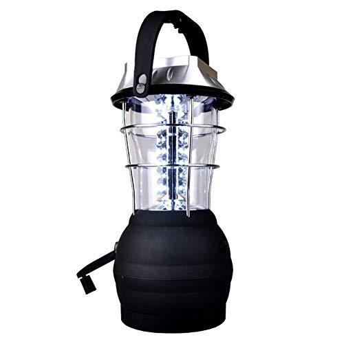 LGPNB Solarbetriebene 60LED-Lampe mit Handkurbelkraft Original - Eingebauter Akku - Scheinwerfer für Camping, Angeln, Schuppen, Urlaub, Notfall, Orkan, Stromausfall