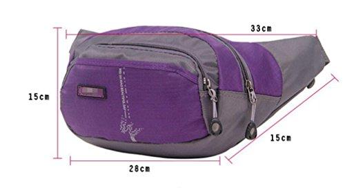 ZYT Taschen Nylon wasserdicht outdoor Sport Männer und Frauen Reiten Ranzen ändern Stoff-Taschen Purple