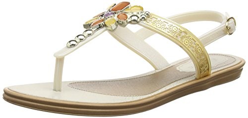 GrendhaMajesty - Sandali donna , Bianco (Off White (Pearl)), 39 1/3