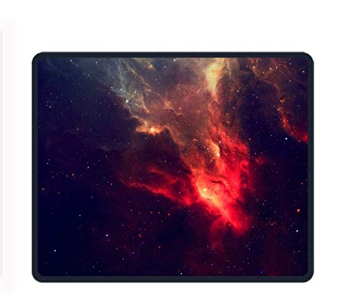 ASKSSD Red Black Galaxy 8.66 X 7.09 Inch Computer Mouse Pad with Neoprene Backing and Jersey Surface Galaxy Jersey