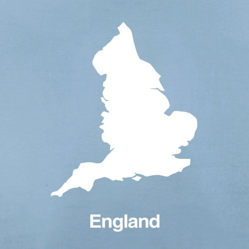 England Silhouette - Herren T-Shirt - 13 Farben Himmelblau