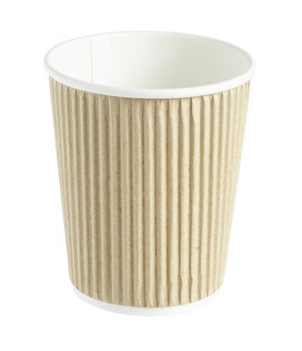 500-x-kraft-8-ounce-ripple-3-ply-disposable-insulated-paper-cups-for-tea-coffee-cappuccino-hot-drink