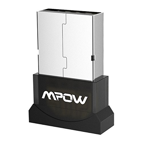 Mpow USB Bluetooth Mini Adaptateur Dongle Sans Fil Clé USB Bluetooth 4.0 pour PC Windows 10, 8,8.1, 7, XP, Vista, 32/64 Bits, Plug & Play ou Pilote IVT, Pour Equipements Bluetooth, Souris, Clavier, Casques, Enceintes, Imprimante