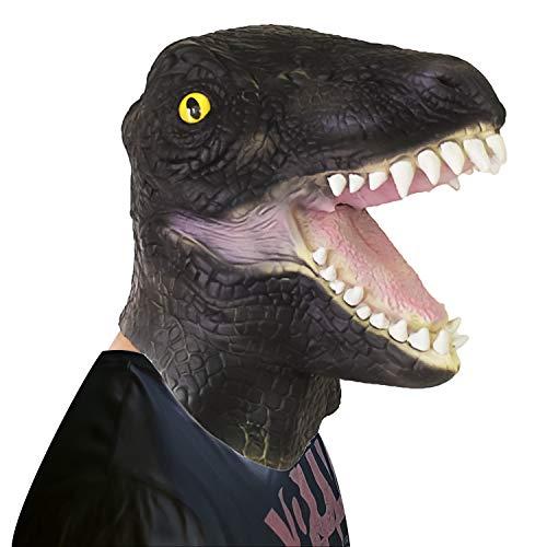 Oxsaytee Halloween Maske Latex- Deluxe Neuheit-Halloween-Kostüm-Party-Schablone Masken, Scary Dinosaurier Masken
