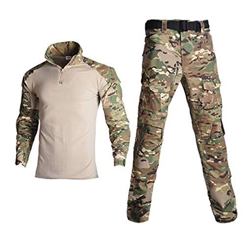 JUNSHIFU Man Tactical Camouflage Uniform Kleidung Anzug Kleidung Sets Cp S - Leinwand Weites Bein