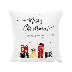 Pingrog Ears Christmas Ornaments Home Decor Xmas Einfacher Stil Decor Kissenbezug Frohe Weihnachten Gold Foil Printing Kissenbezug Sofa Taille Wurf Kissenbezug