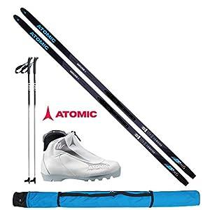 Atomic Langlaufski-Set Mover XCruise Women 183cm – Ski + Bindung + Schuhe Women + Stöcke + Skisack 18/19
