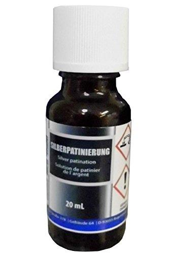 Silber-Patinierung (20 ml) - Alternative zu Schwefel-Leber, Pariser Oxyd - Silber schwärzen