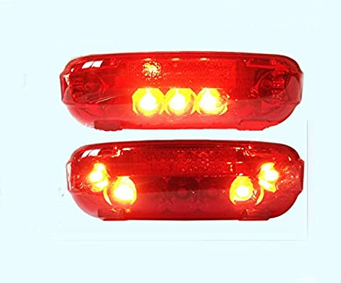 36V LED Tail light Scooter E-bike Turn Signal Rear Lamp Electric Bicycle Ebike (Voltage:36V)