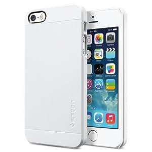 SPIGEN SGP iPhone 5S/5 Case Slim [Ultra Fit S] Premium Matte Hard Case SMOOTH WHITE - ECO-Friendly Packaging