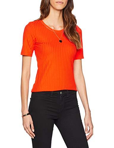 Sportalm Kitzbühel Damen T-Shirt Bling, Orange (Cherry Tomato 069), 42