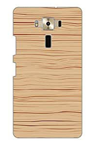 AMAN Wood On Lines 3D Back Cover for Asus Zenfone 3 ZE520KL