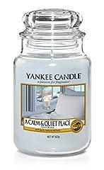 Idea Regalo - Yankee Candle Candela Grande Vaso, Un Posto Calmo e Tranquillo