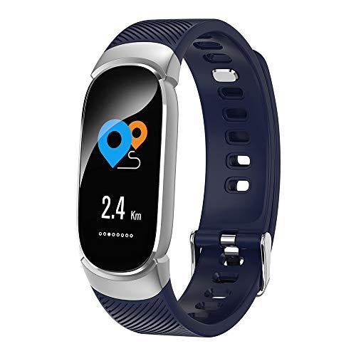 CYRDJ Fitness Armband, Aktivitäts-Tracker mit Herzfrequenzmesser, Schlaf Monitor, Kalorienzähler, wasserdichter Smart Band Schrittzähler für Frauen, Kinder und Männer,Blue -