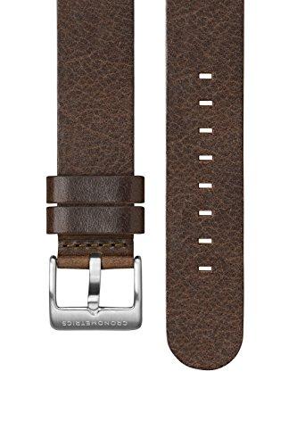 Lederarmband dunkel braun Leather Strap - Cronometrics
