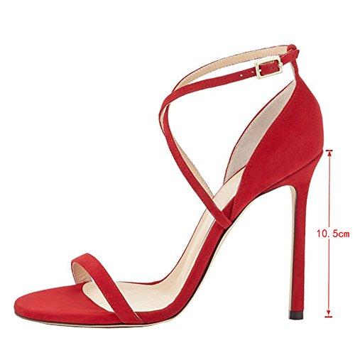 EKS , Sandales pour femme Rouge