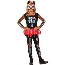 Disfraz de Halloween o día de los muertos, oficial de Rubie, para niña, talla mediana