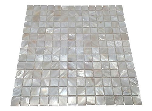 Oyster Mother of Pearl Square Shell Mosaic Tile for Kitchen Backsplashes, Bathroom Walls, Spas, Pools By Vogue Tile by Vogue Tile (Backsplash Na)