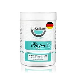 Basenbad mit Natron und Soda – Badesalz für Entsäuerung, für Vollbad & Fussbad geeignet. pH-Wert hoch basisch (9,5), Herstellung in Deutschland.