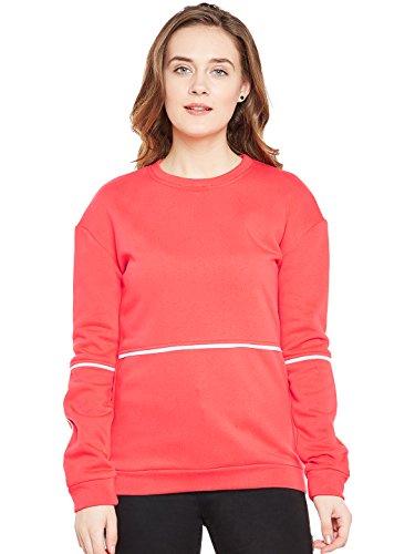 Femella Women's Coral Piping Detail Sweatshirt