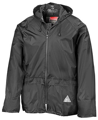 RT95 Jacke und Hose Set Regenanzug wasserdicht, Farbe:Black;Größen:XXL