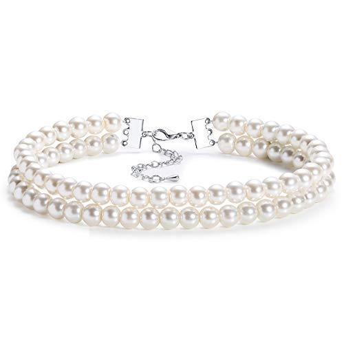 Coucoland - collana girocollo da donna in stile anni '20, con perle d'imitazione, collana da sposa, elegante e retrò, accessorio per costumi, colore: style 2, cod. ar-necklace023