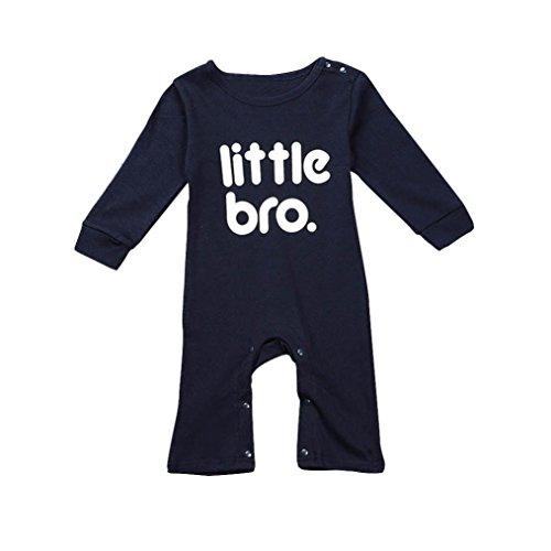 Schwarz Babyshirt (Für 0-24 Baby-Kleidung,Amlaiworld Baby Strampler Overall Body Kleidung Outfits (80, Schwarz))
