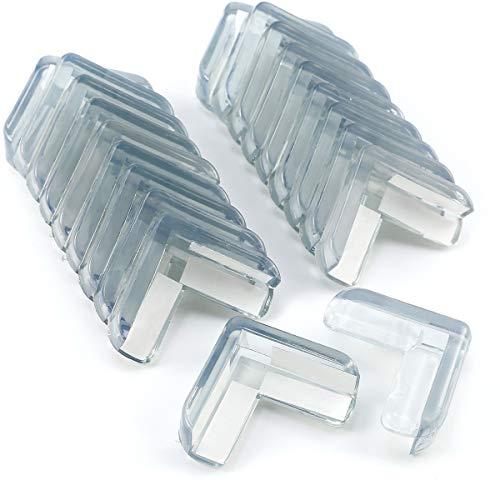 20xSilikon Tisch Eckenschutz Kantenschutz Eckschutz Glastisch Kindersicherung Kinder Baby Schutz Sicherungspuffer Stoßschutz