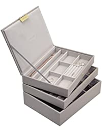 Stackers Taupe Classic Jewellery Box - Set of 3