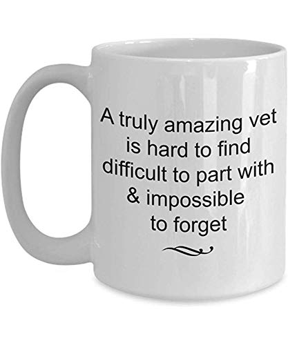 Funny Coffee Mug,Vet Retirement Gift-Truly Amazing and Impossible to Forget White Ceramic Tea Cup,Veterinarian Retired Farewell Goodbye Appreciation Gift Ideas,11 Oz Personalized Porcelain Mug