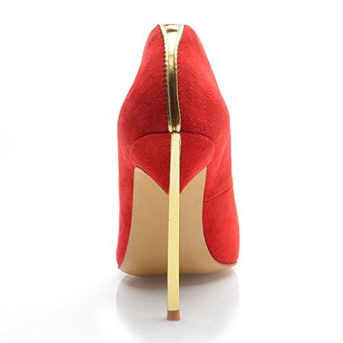 Minitoo , Sandales Compensées femme Rouge - rouge