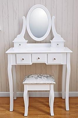 Royal Dressing Tables | Dressing Table, Mirror & Stool Set| Shabby Chic | Bedroom Dresser | Vanity