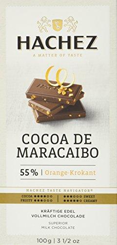 Preisvergleich Produktbild Hachez Cocoa Tafel - Cocoa de Maracaibo Tafel Orange-Krokant,  5er Pack (5 x 100 g)