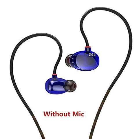 Joyeer Dual Driver Ohrhörer Line Control Mit / Ohne Mic Headset Noise Cancelling HiFi Subwoofer Stereo Kopfhörer In Ear Bass Earbuds , A