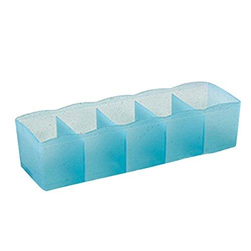 anizer Kosmetische Aufbewahrungsboxen .5 Zellen Kunststoff Aufbewahrungsbox Krawatte BH Socken Schublade Cosmetic Divider (Himmelblau) ()
