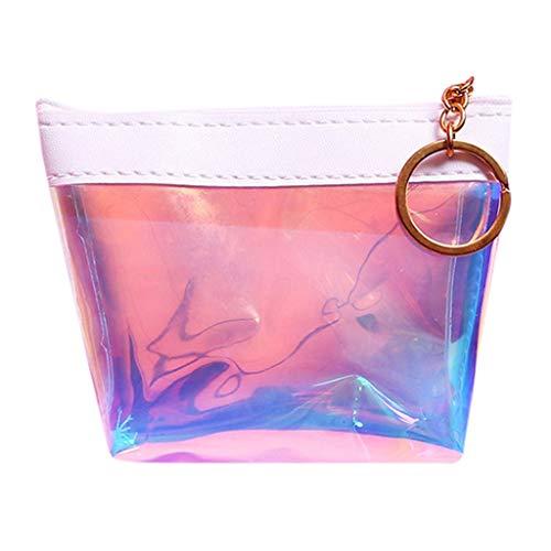 GeldböRse Damen Mini Geldbeutel Clutch TTLOVE MüNze Wallet Halter Organizer Mode Brieftasche(Weiß) -