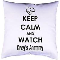 Kissen mit Druck Keep Calm Grey's Anatomy Kissenbezug mit Motiv 40x40 cm Kissenhülle beidseitig bedruckt mit oder ohne Füllung