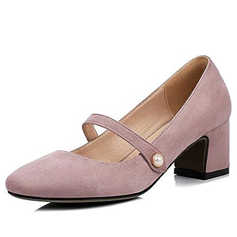 lady,summer,chaussures low-cut/square head,chaussures mince de talons chunky-B Longueur du pied=22.3CM(8.8Inch)